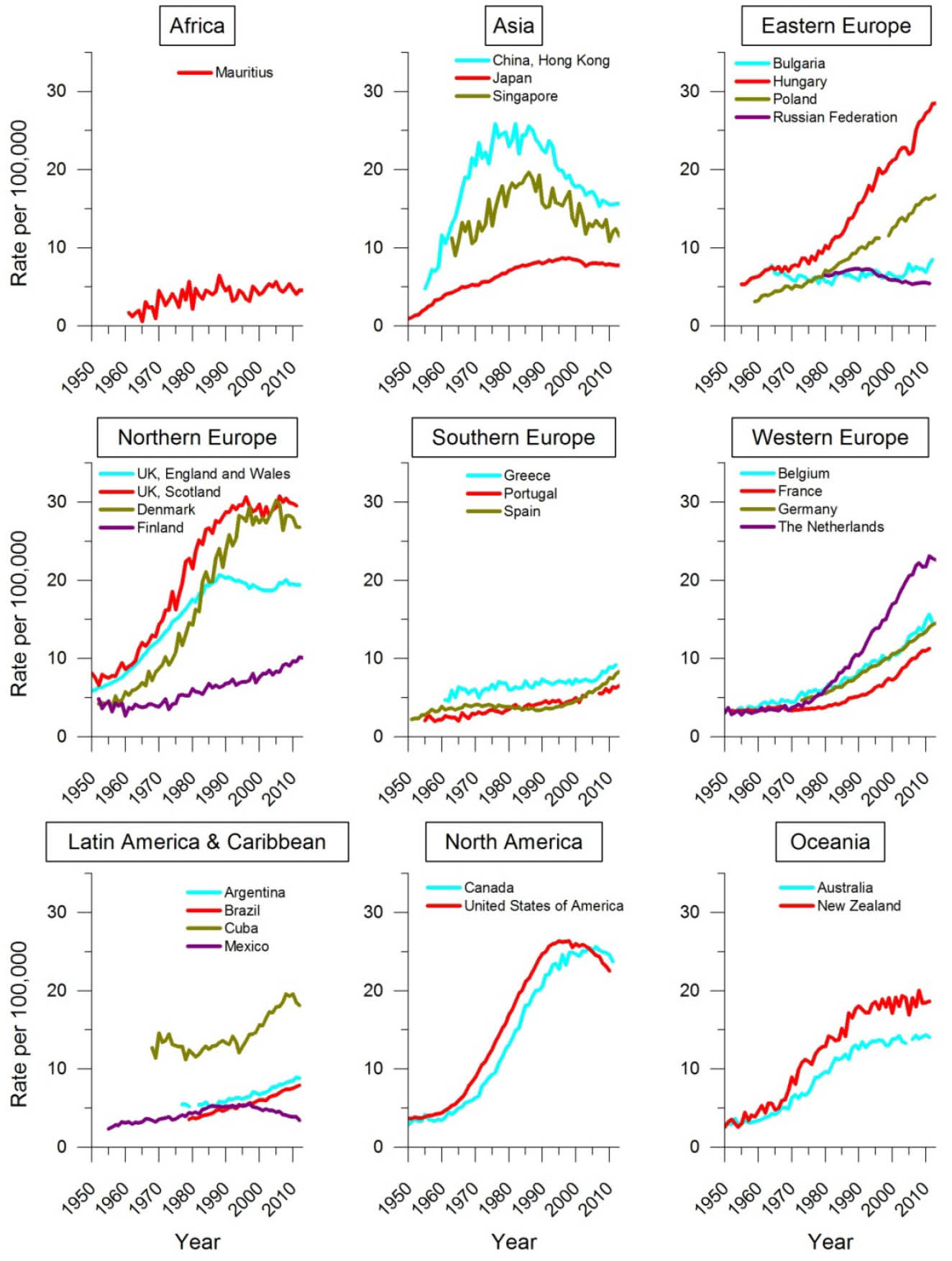 the prevalence and epidemic of breath cancer worldwide In some lmics where the tobacco epidemic is newer or has not yet taken   female breast cancer incidence rates vary by more than 10-fold.